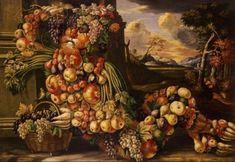 Giclee Print: Seated Figure of Summer, 1573 by Giuseppe Arcimboldo : Giuseppe Arcimboldo, Image Fruit, Milan Cathedral, Image Nature, Images Vintage, Italian Artist, Kitchen Art, Four Seasons, Fresco