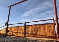 View some of our custom ranch gates at Aberdeen Custom Gate and Iron. Farm Entrance, Driveway Entrance, Front Gates, Entrance Gates, Wood Fence Gates, Fences, Pipe Fence, Ranch Fencing, Custom Gates