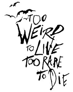 Fear and Loathing quote drawn by Ralph Steadman