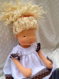 Plum-16 inch waldorf inspired doll