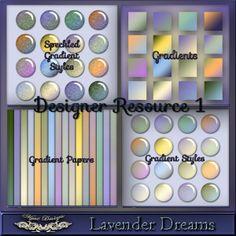 MystD - Lavender Dreams - Designer Resource 1 [MystD-LavenderDreams-DR1] - $5.96 : Digital Scrapbooking Store | Digi Style Designs Descripti...