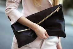 LEATHER CLUTCH DIY: http://transientexpression.com/tutorial-tuesday-leather-foldover-clutch/