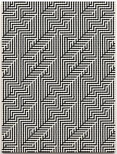 Tauba Auerbach Shadow Weave (Interlock, image), 2011