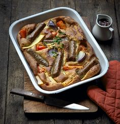Quorn Meat Free Toad in the Hole with Root Vegetables. Perfect for the colder winter months, try this healthier Toad in the Hole with Root Vegetables, made with Quorn Meat Free Sausages. Less than 350 calories per portion, low in saturated fat and high protein.