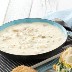 Clam Chowder Recipes, Soup Recipes, Cooking Recipes, Clam Recipes, Frugal Recipes, Chili Recipes, Free Recipes, Cream Of Potato Soup, Cream Of Celery Soup