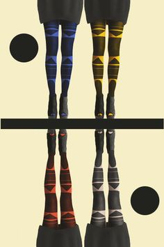 Rad Patternity tights! Made for Bauhaus art exhibition at The Barbican. SO COOL!