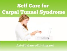 Self-massage for carpal tunnel syndrome