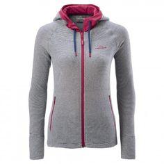 Women's long sleeve hooded fleece jacket.