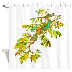 Leafy Sea Dragon Shower Curtain on CafePress.com