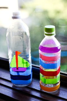 Decorate a water bottle so you know who's who? And refill and reuse! Save water while quenching your thirst!