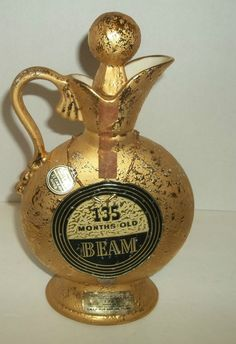 1956 Jim Beam Decanter Regal China C Miller Whiskey Bourbon Empty W Stopper Rare #JimBeam