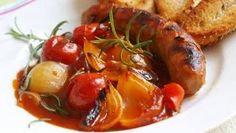 Baked Potato, Shrimp, Sausage, Potatoes, Meat, Chicken, Baking, Ethnic Recipes, Food