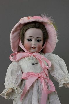 """16"""" K&R SIMON & HALBIG 117N FLIRTY EYE GIRL ~ BISQUE HEAD MARKED AS SHOWN. HUMAN HAIR WIG, GLASS SLEEP EYES, OPEN MOUTH WITH TEETH AND BEAUTIFUL PAINTED FACIAL FEATURES. FULLY JOINTED BODY RETAINS MUCH ORIGINAL FINISH. GOOD BISQUE."""
