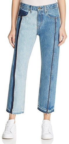 Pin for Later: The Ultimate Guide to Autumn's Hottest Denim Trends Rag & Bone 'Magnolia' Two-Tone Crop Jeans (£344)