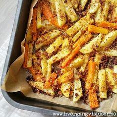 Crispy rotgrønnsaker med smak av Italia - Hver gang vi spiser Vegetable Dishes, Vegetable Recipes, Potato Snacks, Norwegian Food, Cooking Recipes, Healthy Recipes, Simply Recipes, Diy Food, Tapas