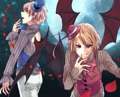 Tags: Anime, Demon, Axis Powers: Hetalia, United Kingdom, Fangs, Romania, Pixiv Id 8984470