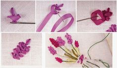 Silk Ribbon Flower Embroidery Designs For Beginners - Life Chilli Ribbon Embroidery Tutorial, Flower Embroidery Designs, Silk Ribbon Embroidery, Diy Embroidery, Embroidery Stitches, Embroidery Patterns, Embroidery Supplies, Ribbon Art, Diy Ribbon