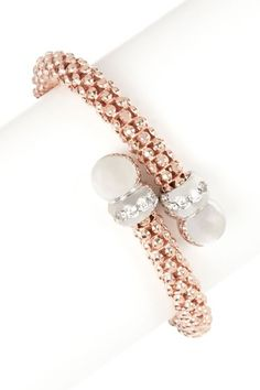 Woven Rose Gold Bangle.