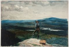Winslow Homer (American, 1836-1910), The Ranger, Adirondacks, c. 1882. Watercolor on paper,  35.25 x 50.8 cm.
