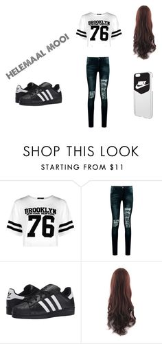 helamaal mooi by roxie-deen on Polyvore featuring mode, Boohoo, adidas Originals and NIKE