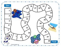*FREE on TpT* Space Roll-the-Dice Game found at Teachers Pay Teachers