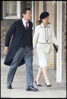 Lady Sarah and Daniel Chatto attend the marriage of Lady Rose Windsor and George Gilman