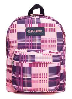 Mochila escolar Cavalier estampada madras - Enluaze Loja Virtual | Bolsas, mochilas e pastas