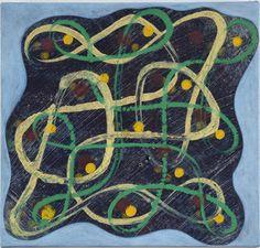 Philip Taaffe, Rangavalli Painting F, 2014, Mixed media on canvas, 33,6 x 35,6 cm