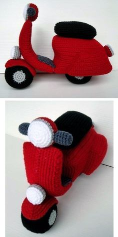 Crochet Your Own Scooter Vespa Fenderlight Pattern - cute amigurumi. (Inspiration).