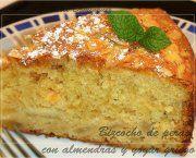 Recetas de bizcocho de peras con almendras y yogur griego | Qué Recetas