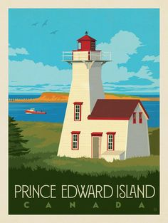 Vintage Travel Anderson Design Group – World Travel – Canada: Prince Edward Island - Prince Edward Island, Poster Retro, Voyage Canada, Anne With An E, Travel Illustration, Design Poster, Party Poster, Anne Of Green Gables, Vintage Travel Posters