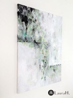 """LauraH. """"Mint"""", paper collage and acrylic painting on canvas.  Scandinavian interior, modern interior, scandinavian art, nordic art, modern art Nordic Art, Scandinavian Interior, Interior Modern, Acrylic Painting Canvas, Modern Art, My Arts, Collage, Mint, Photo And Video"""