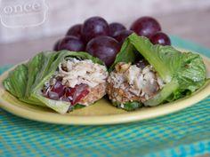 Gluten Free Dairy Free Chicken Salad Lettuce Wraps recipe- Lunch #freezercooking #glutenfree #dairyfree