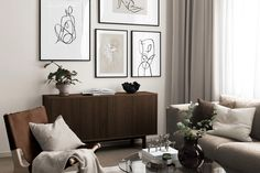 Line Art is one of this season's biggest art trends! Country Wall Art, Still Life Drawing, French Artists, Wall Art Designs, Magazine Design, Picture Wall, Line Art, Living Room Decor, Gallery Wall