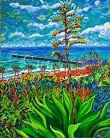 ": Agave Mar, 24"" x 30"", Oil by Cathy Carey 2014"