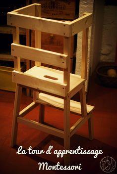 La tour d'apprentissage Montessori du petit renard - Dans ma petite roulotte...