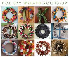 A Dozen Do it Yourself Wreaths