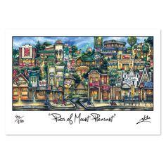 'Mount Pleasant, MI' by Brian McKelvey Painting Print