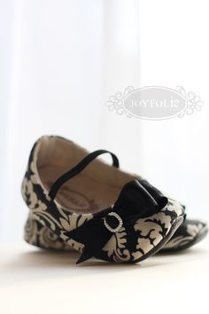 Nichelle Damask Shoes / Booties by JoyFolie on Etsy