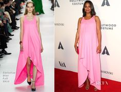Zoe Saldana In Christian Dior – Academy of Motion Picture Arts and Sciences' Hollywood Costume Opening Party