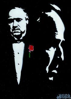 The GodFather (Marlon Brando) Airbrush Stencil Graffiti Art on Etsy, $28.21 CAD