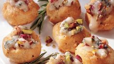 Gorgonzola & Rosemary Mini cream puffs go together in a snap with this easy-to-follow recipe.