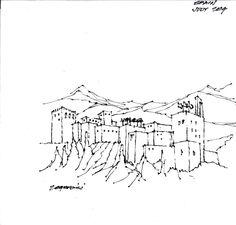17 croquis de guardanapo feitos por arquitetos famosos,Len Zegarski. Cortesia de NewSchool and AIAS San Diego