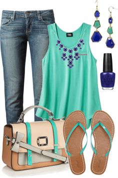 """blue hues"" by c-michelle on Polyvore"