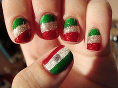 Diseños de uñas por la Independencia de México