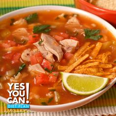 Tortilla Soup a Yes You Can Diet Plan Lunch Recipe