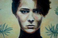 Óleo sobre tela de Bettina Baus. Cuarto Medio. 2013  Retrato / Clases de Arte