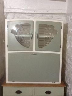 Vintage Retro 50s 60s Kitchen Cabinet Kitchenette in Home  Furniture   DIY   Furniture1920 s Easiwork Kitchen Cabinet with Sliding Tin Tand in great  . Ebay Kitchen Cabinets. Home Design Ideas