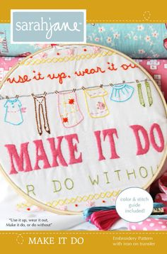 EMBROIDERY Pattern, Sarah Jane, Children at Play, Make It Do, Iron on Tranfer. $6.00, via Etsy.
