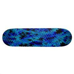 blue camo fury skateboard